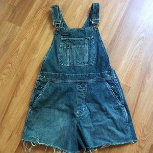 DKNY Overall Jean Shorts Size Medium